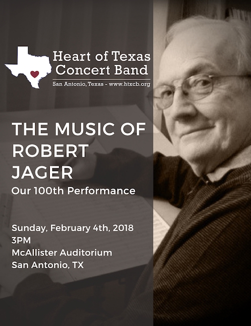 The Music of Robert Jager - February 4, 2018